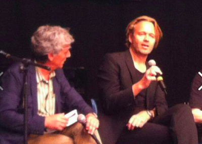 Le Corde dell'Anima-festivalen. Interviewes på scenen i Cremona om Øjesten.